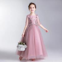 儿童礼服公主裙蓬蓬纱女童晚礼服钢琴演出服主持人婚纱裙花童走秀