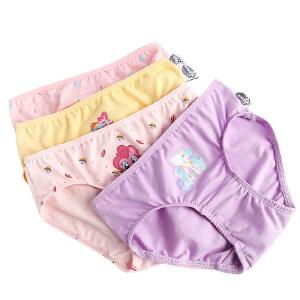 KK树儿童内裤女童纯棉中大童短裤4-5-6岁小孩卡通三角裤保暖内裤
