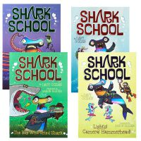 英文原版绘本 Shark School Shark-Tastic Collection Books 1-4 鲨鱼学校系