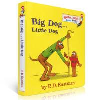 英文原版绘本 名家苏斯博士Big Dog Little Dog 大狗小狗反义词 撕不烂儿童纸板书 are you my