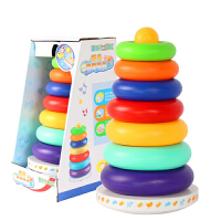 20190628230519620宝宝叠叠乐彩虹塔套圈玩具早教儿童玩具1-2岁宝宝玩具男孩子一到两周岁半0-3岁女