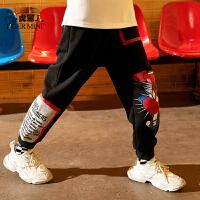 【任选专区3件149元】小虎宝儿男童裤子秋款运动裤宽松2021款儿童长裤外穿洋气