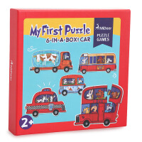 MiDeer弥鹿儿童拼图纸质幼儿智力拼图玩具动物拼图1-2-3周岁
