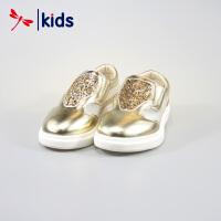 红蜻蜓童鞋女童中童时尚板鞋