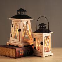 北欧复古烛台摆件玻璃蜡烛烛台香薰浪漫复古晚餐风灯家居小装饰品