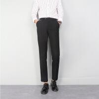 西裤男士修身黑色西装裤商务西服长裤子男韩版潮流小脚青年休闲裤