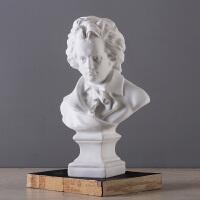 艺术品石膏像摆件现代简约家居装饰品样板房工艺品摆设贝多芬雕像