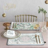 植物双层西餐垫布艺隔热垫杯垫餐桌垫垫碗盘垫茶垫