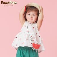 【秒杀价:29】Pawinpaw卡通小熊童装夏款婴幼儿新款女宝宝水果图案斜挎包