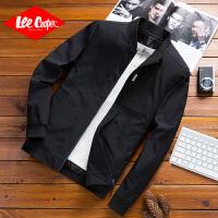 Lee Cooper春夏新款男装外套舒适面料柔软透气棒球服男式夹克