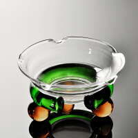 透明玻璃过滤茶漏组 功夫茶具配件茶道滤网布茶渣滤器