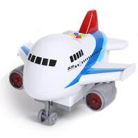 音乐故事灯光宝宝玩具车客机 空中巴士模型惯性儿童玩具飞机