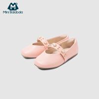 【满200减130】迷你巴拉巴拉女童公主鞋小皮鞋2019春季新款儿童软底单鞋防滑鞋子