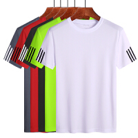 短袖速干T恤男短袖运动跑步训练纯色透气修身体T恤男弹力T恤