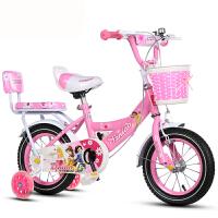 儿童自行车公主车男女宝宝车345678岁121416小孩自行车 白雪公主顶配粉