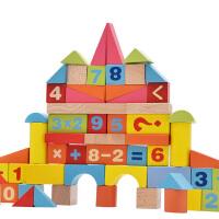 木制积木婴儿童玩具1-2-3岁以下小男孩女孩一周岁宝宝礼物