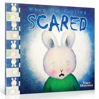 英文原版儿童正版童书情绪商管理绘本毛毛兔 When I'm Feeling Scared 当我感到害怕的时候 培养孩子