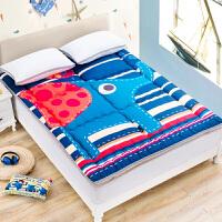 20180601230907580折叠床垫单人学生宿舍床垫褥子儿童加厚床垫夏季床褥双人床 (1.8床)180×200c