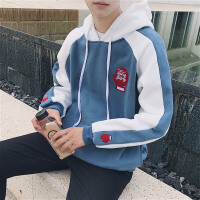 新款韩版秋装卫衣男连帽长袖宽松风学生套头运动外套男女棒球服