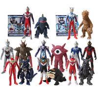 奥特曼与怪兽对战玩偶 银河艾克斯赛罗迪迦 决战软胶玩具