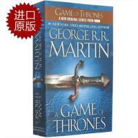 【新到现货】英文原版 冰与火之歌系列 卷一 A Game of Thrones:权利的游戏 热门美剧原著小说 小开本简