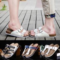 软木拖鞋男士夏季潮流沙滩情侣凉鞋韩版休闲凉拖鞋夹脚防滑