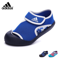 阿迪达斯adidas童鞋17年夏季新款露趾包脚沙滩鞋中童凉鞋男女童 BY2237