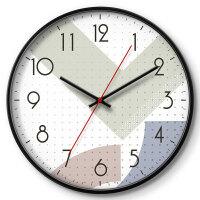 钟表创意挂钟客厅卧室个性静音时钟石英钟波普风格