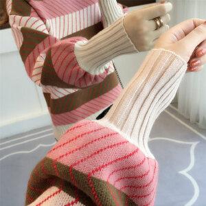 【限时促销!下单立减100!】半高领毛衣女宽松2018秋冬季新款韩版灯笼袖加厚慵懒风套头针织衫