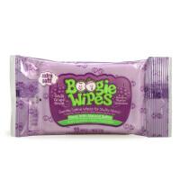 美国BoogieWipes婴儿湿巾鼻涕虫湿纸巾葡萄味10片宝宝擦鼻涕湿巾