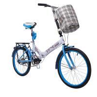耐嘛20寸后避震折叠自行车男女便携单车学生车