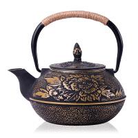 日本铸铁壶南部生铁壶纯手工老铁壶 铸铁无涂层日本南部生铁壶煮水泡茶壶茶具生铁壶茶具烧水煮