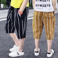 男童短裤外穿夏装儿童裤子休闲中裤新款夏季中大童七分裤薄款