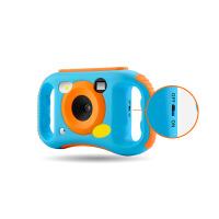 周陌 WIFI儿童相机摄像机 防摔软胶 趣味卡通 1.77寸彩屏 双手柄 蓝色