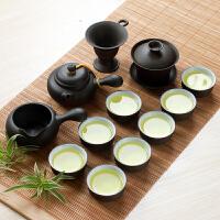 整套石飘西施壶紫砂茶具茶杯13件套紫砂茶具套装