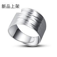 2018抖音网红新品银戒指 男女款925银饰手工开口银饰