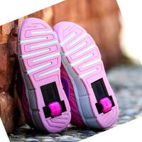 女儿童自动款爆走鞋成人溜冰鞋轱双轮暴走鞋男童秋季单轮滑轮鞋