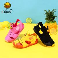 【4折价:91.6】B.Duck小黄鸭童鞋男女童凉鞋2020夏季新款儿童沙滩透气软底凉鞋潮B2085914