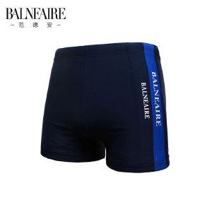 【全场包邮】范德安黑色男士泳裤 性感时尚男士游泳衣 平角五分泳裤大码沙滩裤