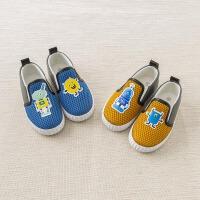 [2件3折价:48.9]戴维贝拉春季新款儿童鞋子 宝宝休闲帆布鞋DB7424