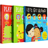 Playdate Pals 游戏伙伴 英文原版 儿童启蒙绘本12册附贴纸计划表