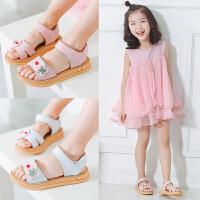 中大童女童鞋凉鞋新款夏季牛皮公主鞋小学生女孩儿童凉鞋