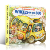 巴士上的车轮 英文原版 Wheels on the Bus 纸板书 亲子儿童绘本 口袋书