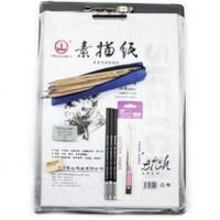 初学素描工具马可7件套装12支素描铅笔 炭笔 橡皮 速写板