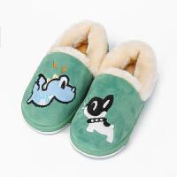 儿童棉拖鞋1-3岁冬天包跟男童女宝宝保暖室内可爱公主家居小孩