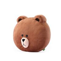 熊毛绒抱枕腰靠汽车办公室沙发午睡枕头不可拆洗