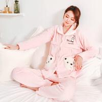 孕妇月子服新款保暖秋冬睡衣产后宽松喂奶冬季哺乳家居服孕妇套装