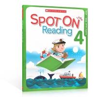 【全店300减100】英文原版 Scholastic Spot On Reading 4 学乐分阶阅读理解练习册