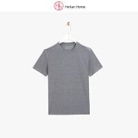 夏季圆领纯色短袖T恤男基础款 Heilan Home/海澜优选生活馆
