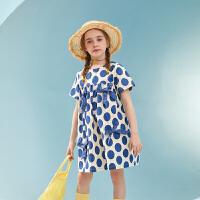 【夏新品2件4折:104】巴拉巴拉旗下儿童波点连衣裙女童裙子中长款公主2020夏装新款女
